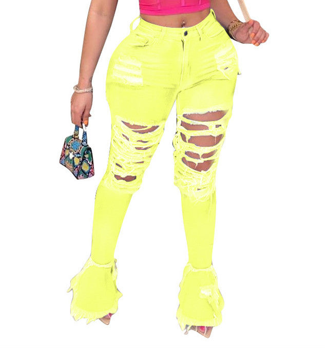MB Fashion YELLOW Pants 8707