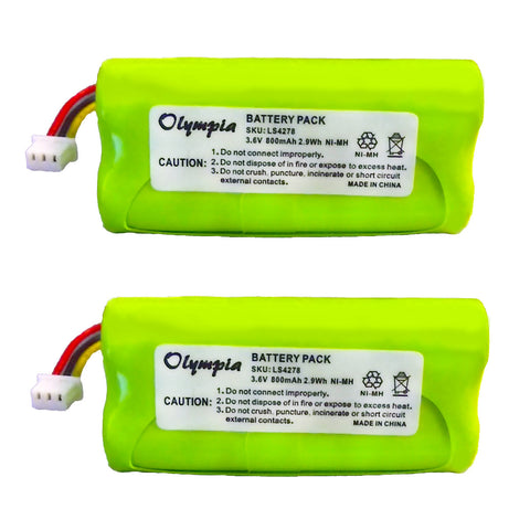 2 Pack of Motorola Symbol LS4278-M Battery