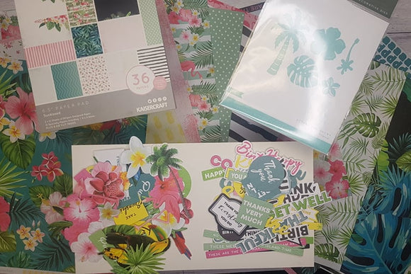 It's a tropical holiday on paper! Kaisercraft's 'Sunkissed' collection