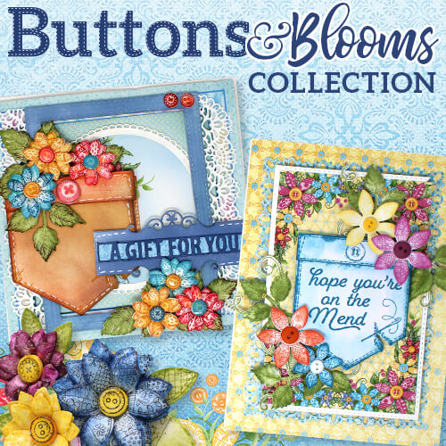 Heartfelt Creations - Button and Blooms - Oct 18