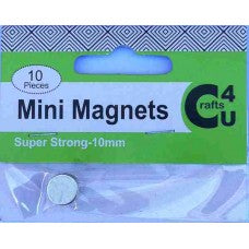 Crafts - Mini Magnets 10 pack super strong 10mm