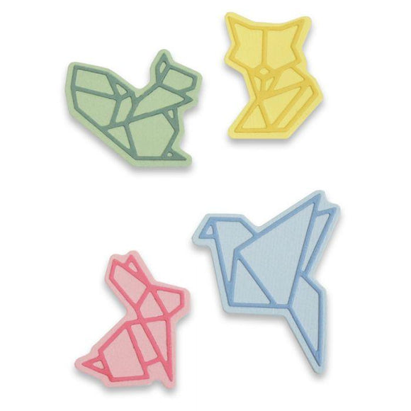 Sizzix Thinlits Die Set 8PK - Origami Style Animals Item: 663319