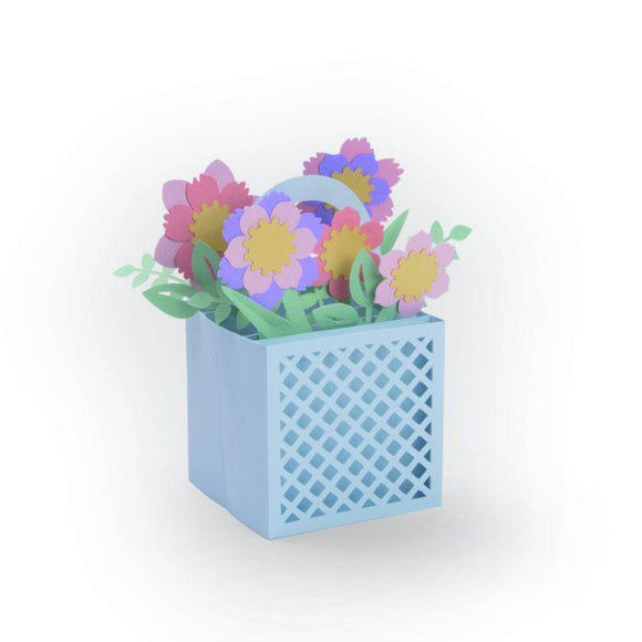 Sizzix Thinlits Die Set 12PK - Card in a Box, Flower Basket Item: 663578
