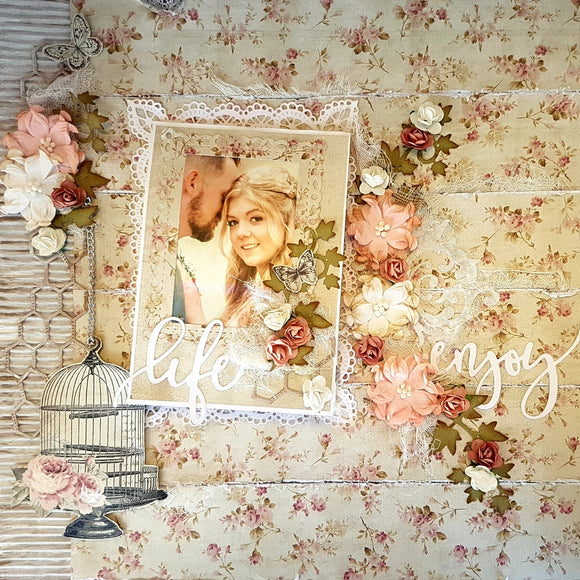 Shabby Chic Twist and Pop Scrapbook Layout - FYI Class Saturday 03/11/18 : 11.30am-1.30pm