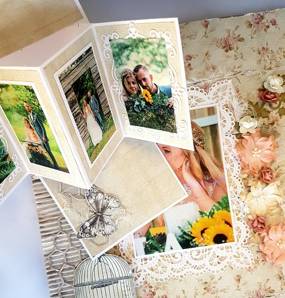 **INSTRUCTIONS ONLY** for Shabby Chic Twist and Pop Scrapbook Layout Kit  (SBK) - (2hr class)