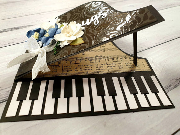 **INSTRUCTIONS ONLY** for Piano flower Card (CK) #C425