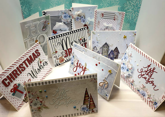 10 card class - Once upon a Christmas 03/10/20 1pm - 5pm