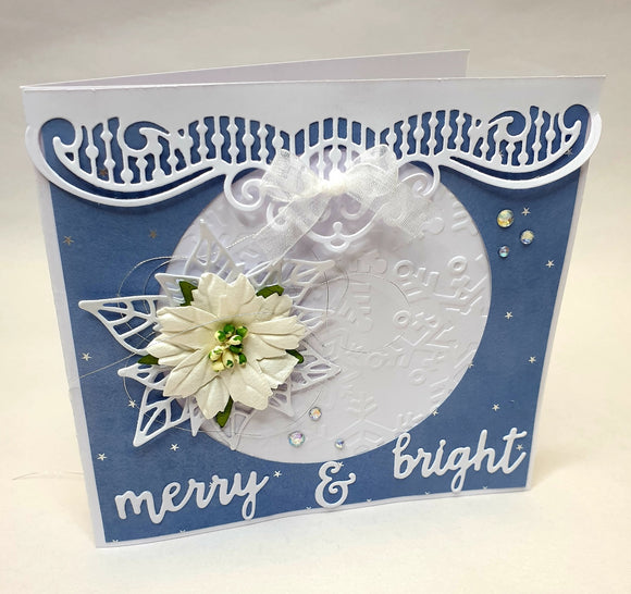 ** INSTRUCTIONS ONLY ** for Embossed Christmas Card - (CK) #C837*
