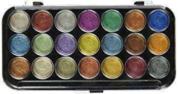 Pearlescent Cake Water Colour Set - 21 colors