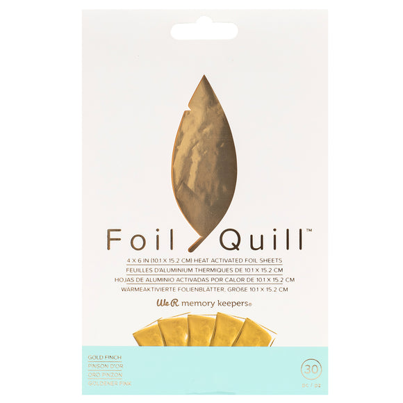 660667 : Foil Sheets - WR - Foil Quill - 4 x 6 Inch Sheets - Gold Finch (30 Piece)
