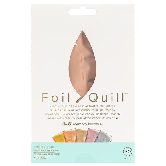 660670 : Foil Sheets - WR - Foil Quill - 4 x 6 Inch Sheets - Shining Starling (30 Piece)