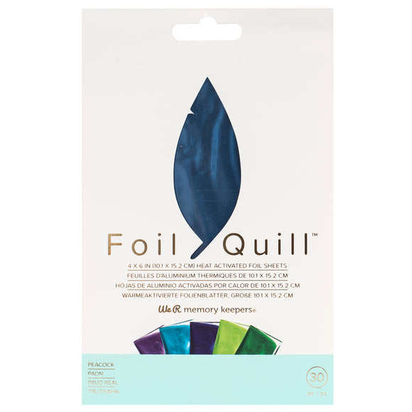 660673 : Foil Sheets - WR - Foil Quill - 4 x 6 Inch Sheets - Peacock (30 Piece)