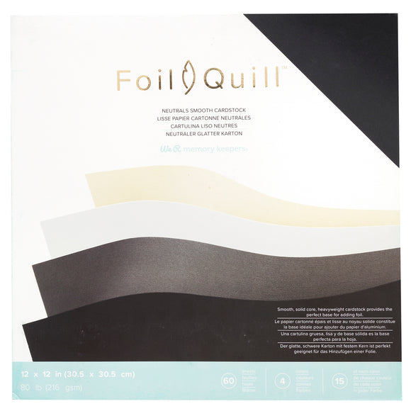 661017 : Cardstock - WR - Foil Quill - 12 x 12 - Paper Pack - Neutrals - Smooth - 60 Sheets