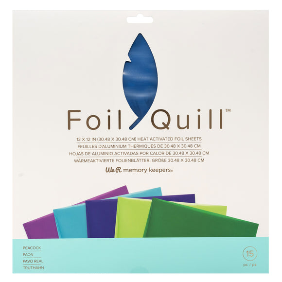 661027 : Foil Sheets - WR - Foil Quill - 12 x 12 - Peacock - 15 Sheets