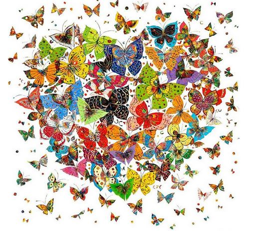 Diamond Painting #96 - Butterfly Heart