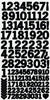 AS262 - Number Stickers - Black