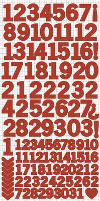 AS263 - Number Stickers - Red