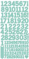AS264 - Number Stickers - Sea Green