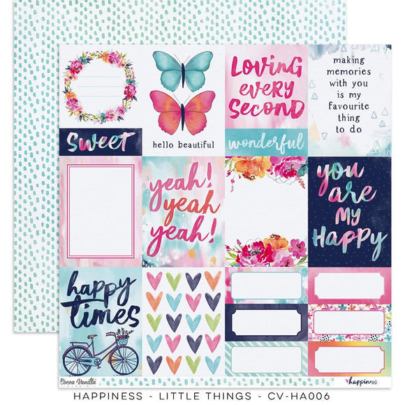 Coco Vanilla : CV-HA006 - Happiness  œLittle Things � Paper