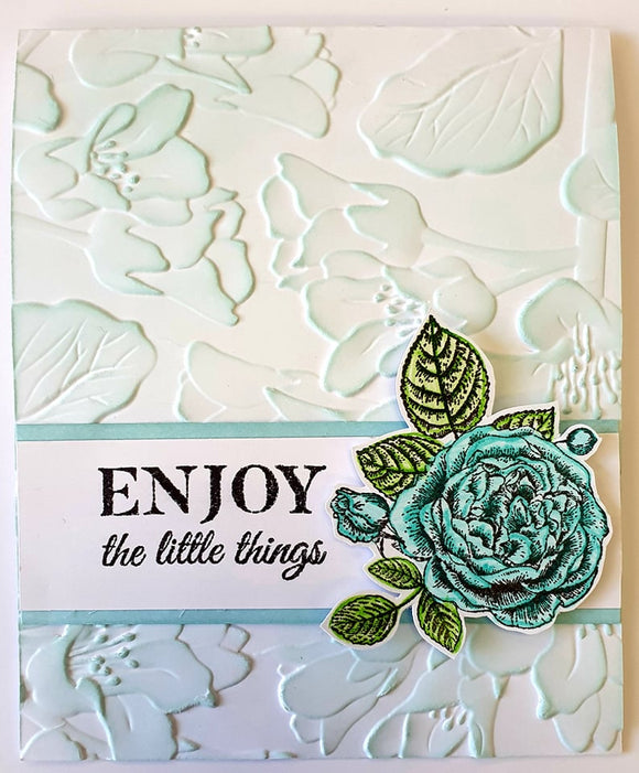 ** INSTRUCTIONS ONLY ** for Embossing and inking techniques 3D Window Card (CK) #C833*