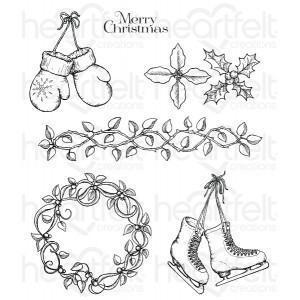 hcpc-3747 - Celebrate the Season Cling Stamp Set