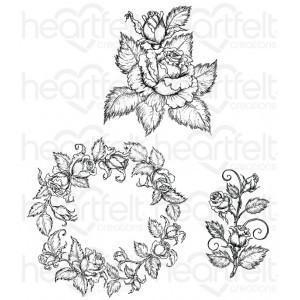 hcpc-3754 - Classic Rose Bouquet Cling Stamp Set