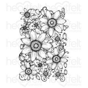 hcpc-3626 - Classic Sunflower Cling Stamp Set