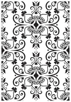 "Kaisercraft :  EF236 :   : Embossing Folder 4""x6"" Ornate Flourish Plate"