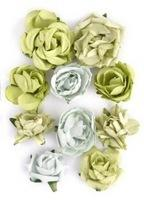 F633 - Kaisercraft Paper Blooms - Olive