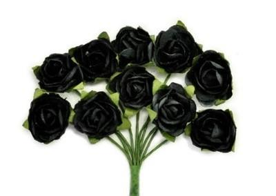 F661 - Kaisercraft Mini Paper Blooms - Black