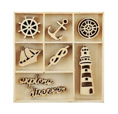 FL591 :  Kaisercraft  Beach Shack : Flourish Pack Nautical