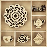 FL598-Kaisercraft Flourish pack -  Tea party