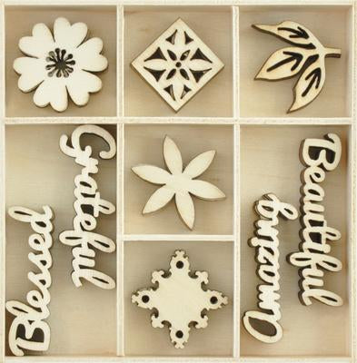 FL624 - Kaisercraft : Flourish Pack Beautiful 45 pcs