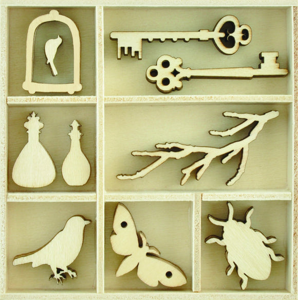 FL626 - Kaisercraft : Flourish Pack Curiosities 50pcs