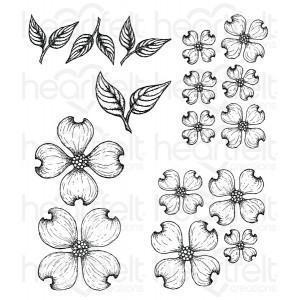 hcpc-3773 - Flowering Dogwood Cling Stamp Set