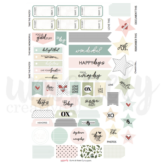 CP1933 : Gums & Roses Cut Apart Sheet  (Uniquely Creative)