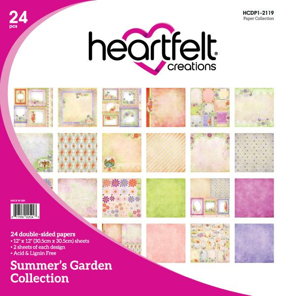 Heartfelt Creations : HCDP1-2119 - Summer's Garden Paper Collection