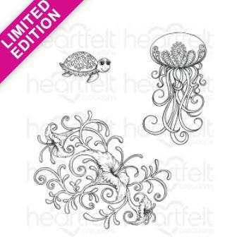 HCPC-3737 - Under the Sea Coral Cling Stamp *Limited Edition*