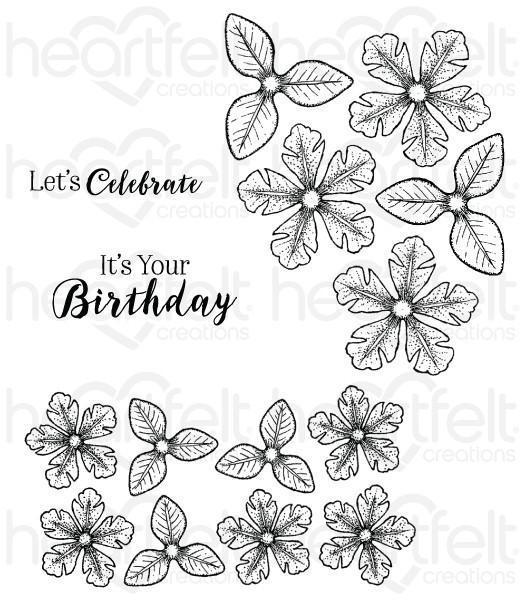 hcpc-3785 -   HCPC-3785 - Small Classic Petunia Cling Stamp Set