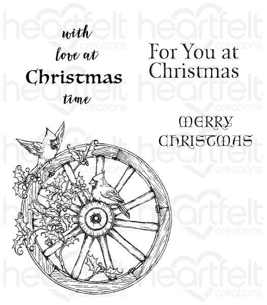 HCPC-3792 - Festive Holiday Cling Stamp Set