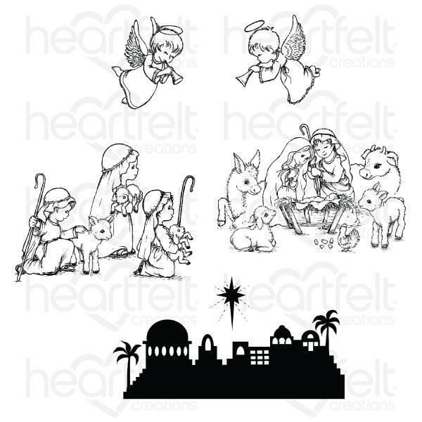 HCPC-3832 - O Holy Night, Christmas Cling Stamp Set