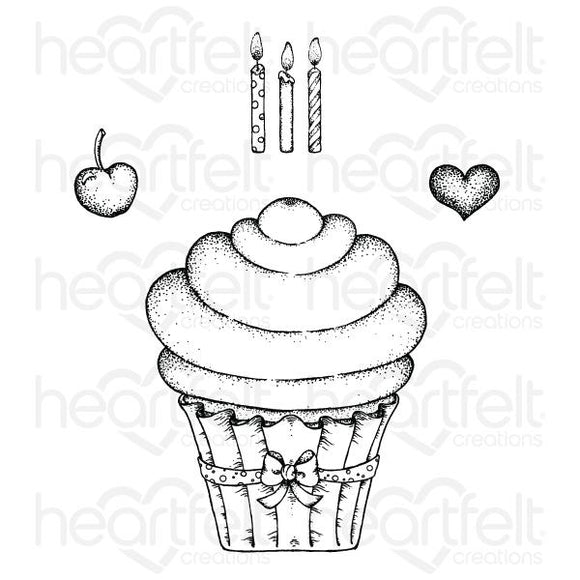 HCPC-3870 : Sugarspun Cupcake Cling Stamp Set