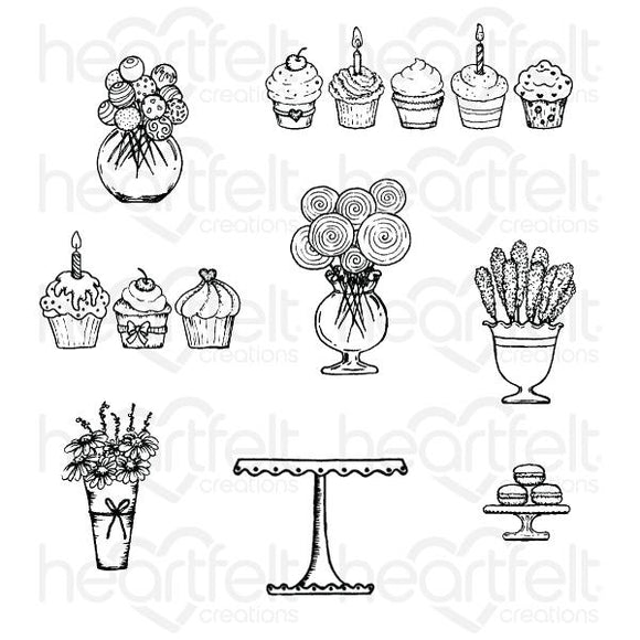 HCPC-3872 : Sweet Shoppe Treats Cling Stamp Set