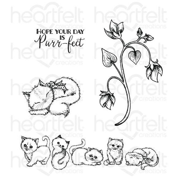 Heartfelt : HCPC-3876 - Purring and Playful Cling Stamp Set
