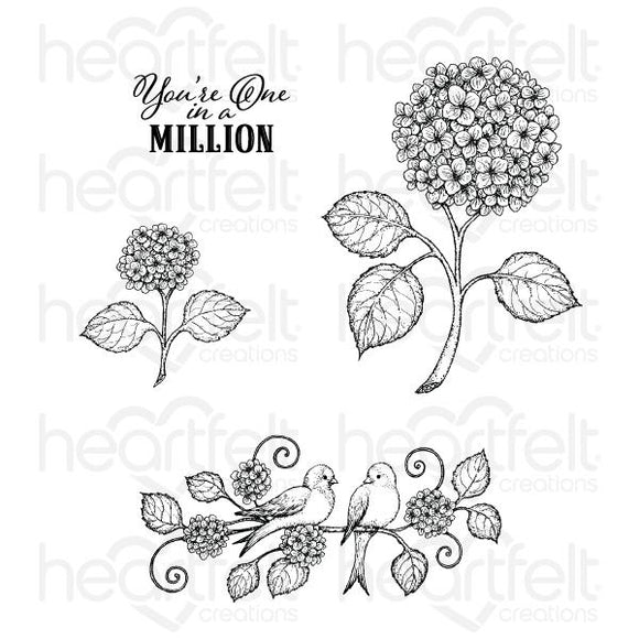HCPC-3901 : Fresh Cut Hydrangea Cling Stamp Set