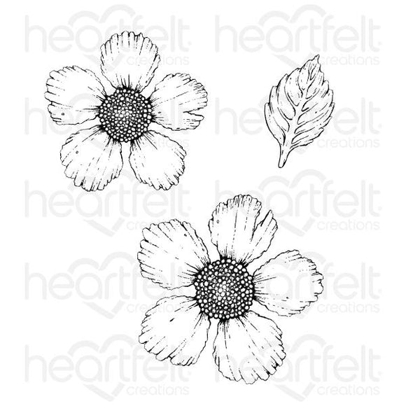 HCPC-3907 Large Wild Rose Cling Stamp Set