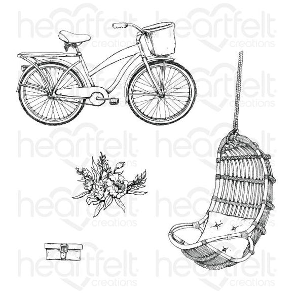 Heartfelt Creations : HCPC-3910 - Cottage Lifestyle Cling Stamp Set