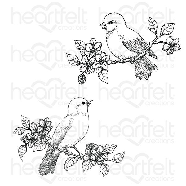 HCPC-3913 - Floral Song Cling Stamp Set (Cascading Petals)