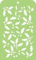 IT022 - Mini Designer Template- Holly Leaves
