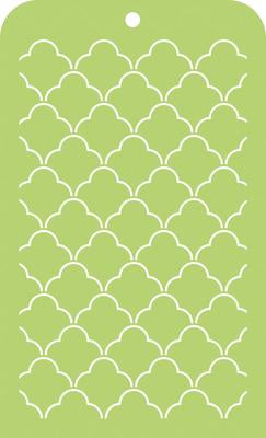IT031 - Kaisercraft : Mini Designer Templates - Scallop Lattice